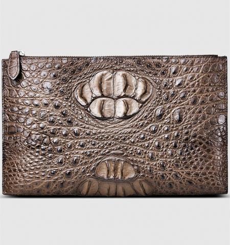 Casual Genuine Crocodile Wallet-Front