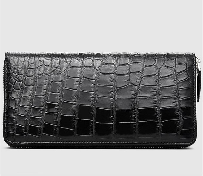 Classic Black Genuine Alligator Wallet-Right