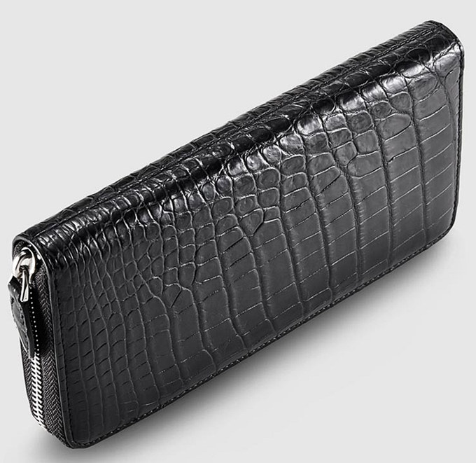 Classic Black Genuine Alligator Wallet-Top