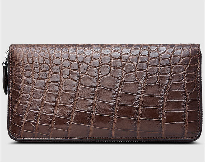 Classic Brown Genuine Alligator Wallet-Left
