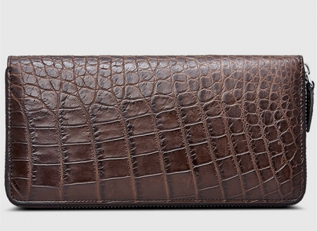 Classic Brown Genuine Alligator Wallet-Right