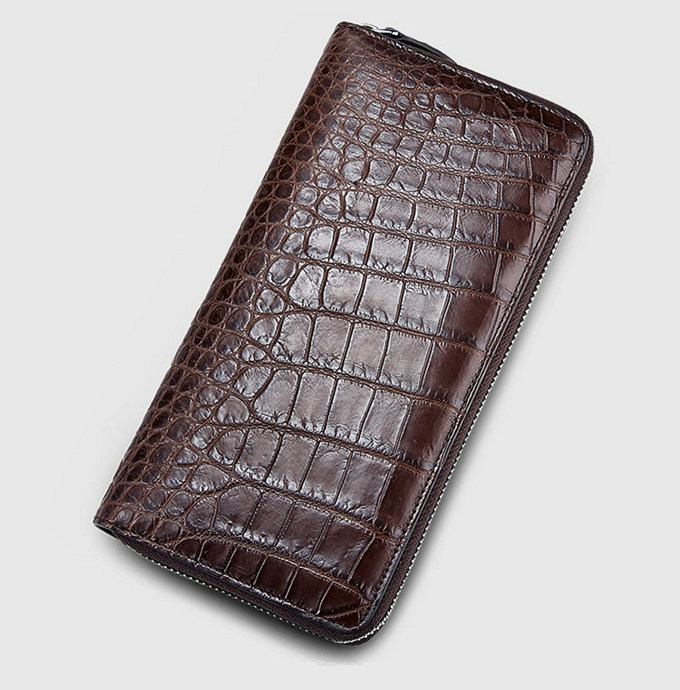 Classic Brown Genuine Alligator Wallet