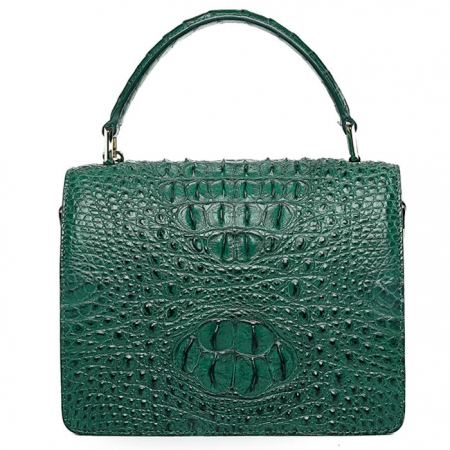 Classic Crocodile Handbag, Crossbody Handbag-Back