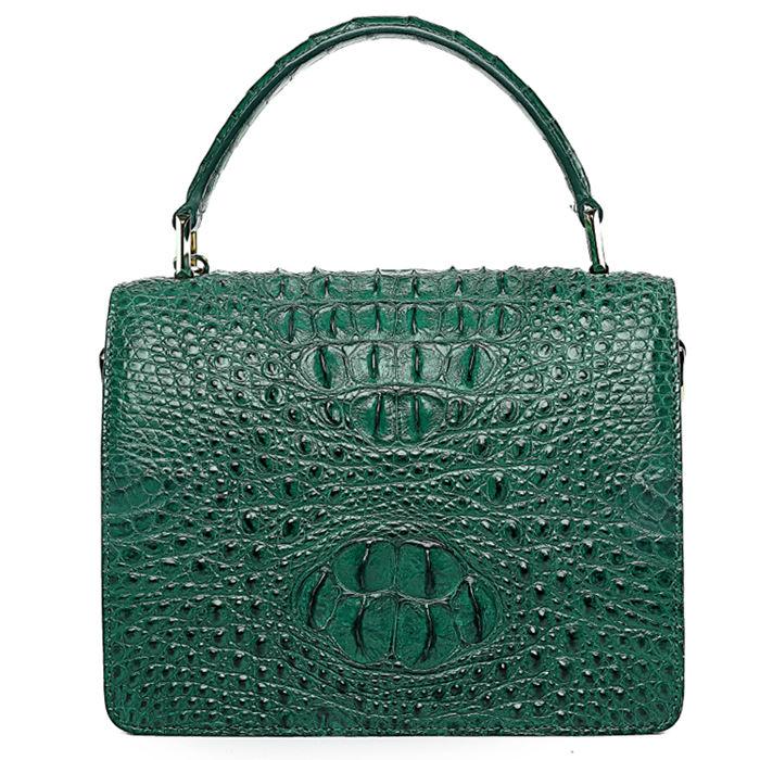Classic Crocodile Handbag, Crossbody Handbag-Back