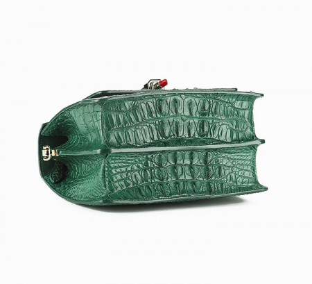 Classic Crocodile Handbag, Crossbody Handbag-Bottom