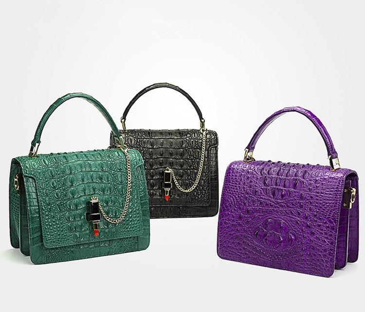 Classic Crocodile Handbag, Crossbody Handbag-Exhibition