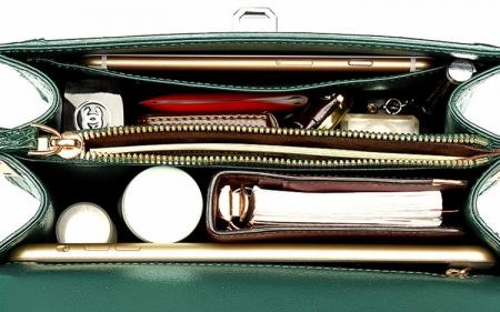 Classic Crocodile Handbag, Crossbody Handbag-Inside