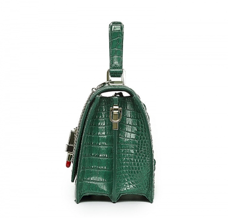 Classic Crocodile Handbag, Crossbody Handbag-Side