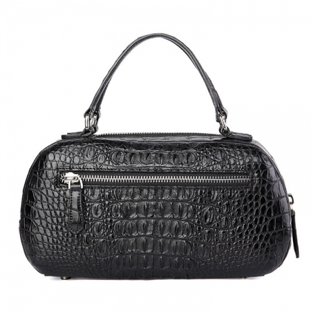 Classic Crocodile Top-Handle Handbag, Crocodile Evening Bag-Back