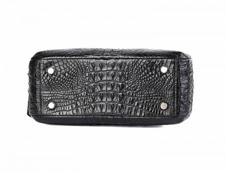 Classic Crocodile Top-Handle Handbag, Crocodile Evening Bag-Bottom