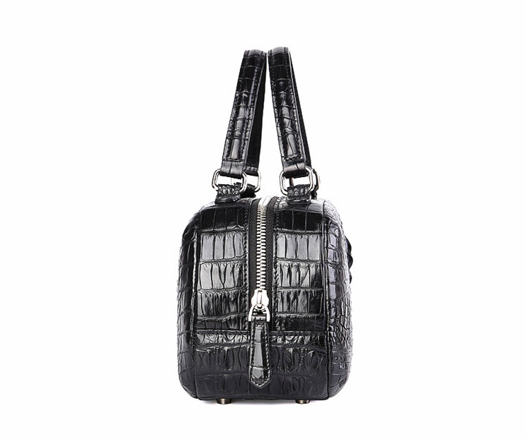 Classic Crocodile Top-Handle Handbag, Crocodile Evening Bag-Side