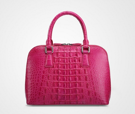 Classic Genuine Crocodile Handbag, Shoulder Handbag for Women-Back