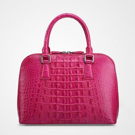 Classic Genuine Crocodile Handbag, Shoulder Handbag for Women-Back