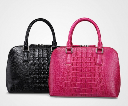 Classic Genuine Crocodile Handbag, Shoulder Handbag for Women-Exhibition
