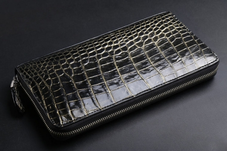 Classic Genuine Crocodile Wallet-Golden-1
