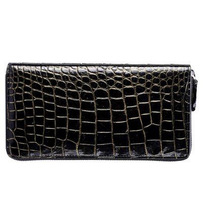 Classic Genuine Crocodile Wallet-Golden