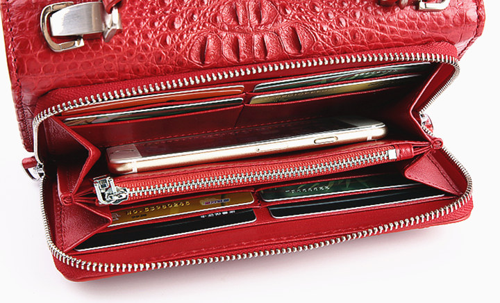 Crocodile Clutch Evening Bag, Handbag, Crossbody Bag-Inside