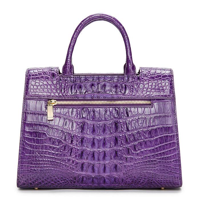 Crocodile Handbag Shoulder Bag Satchel Bag-Back