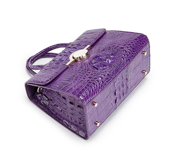 Crocodile Handbag Shoulder Bag Satchel Bag-Bottom