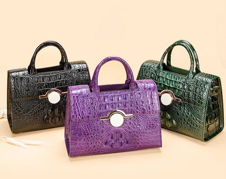 Crocodile Handbag Shoulder Bag Satchel Bag-Exhibition