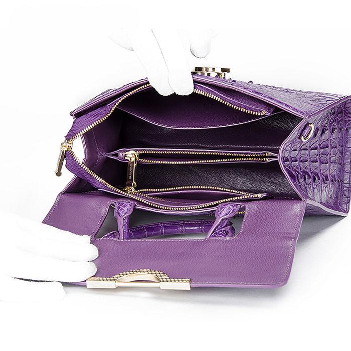 Crocodile Handbag Shoulder Bag Satchel Bag-Inside