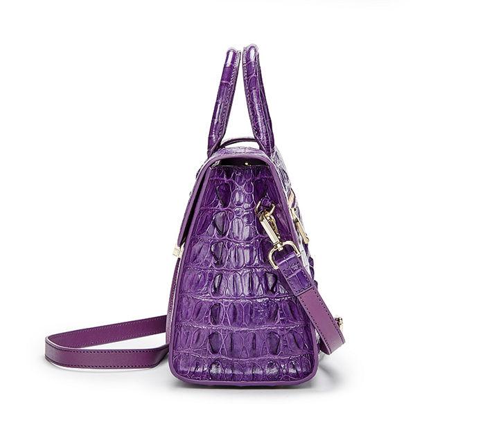 Crocodile Handbag Shoulder Bag Satchel Bag-Side