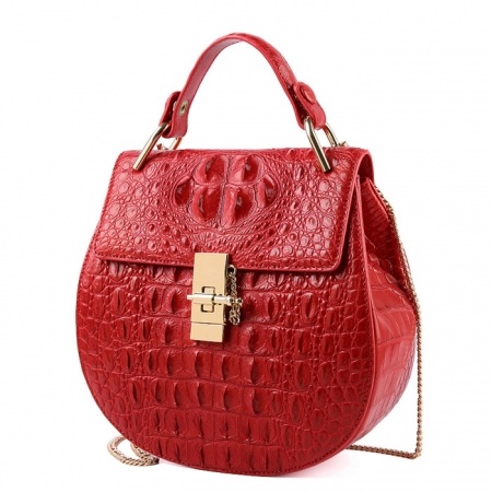 Crocodile Leather Evening Handbag, Crocodile Leather Wrist Bag-1