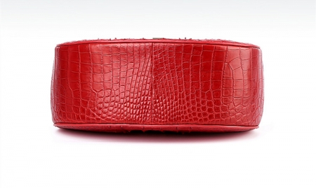 Crocodile Leather Evening Handbag, Crocodile Leather Wrist Bag-Bottom