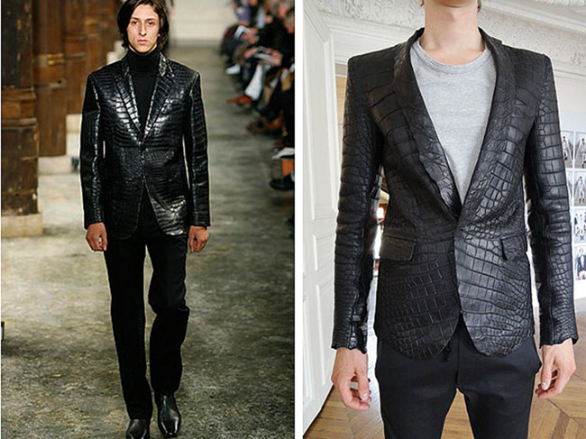 Crocodile Leather Jacket Can Show Men's Taste and Status