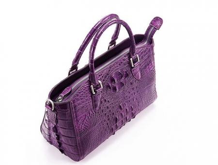 Crocodile Leather Shoulder Bag, Crocodile Leather Designer Handbag-Top