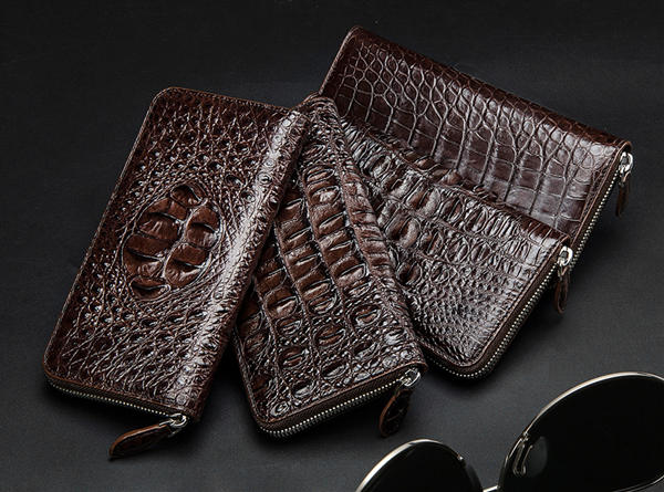 Crocodile skin can be used to make wallets