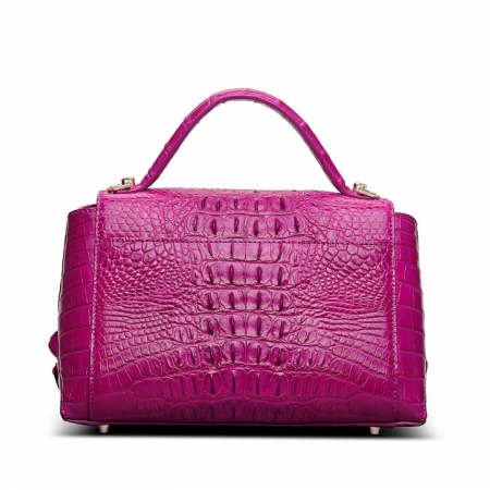 Designer Crocodile Leather Handbag-Back