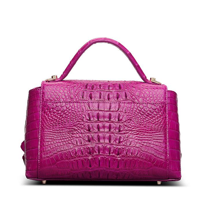 Designer Crocodile Leather Handbag-Back
