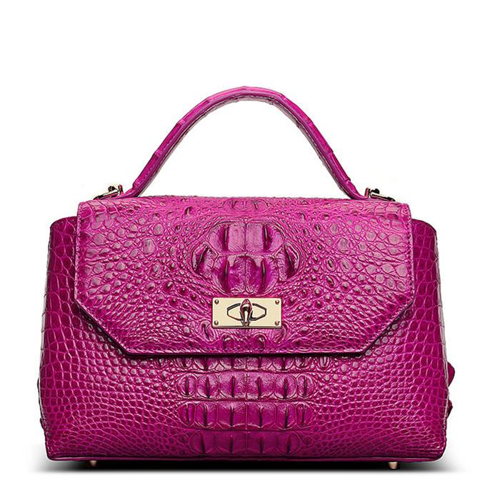 Designer Crocodile Leather Handbag
