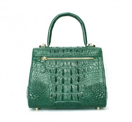 Elegant High-end Crocodile Handbag Purse Crossbody Bag-Back