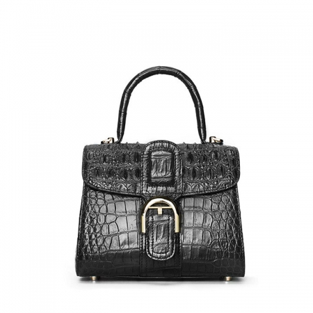 Elegant High-end Crocodile Handbag Purse Crossbody Bag-Black