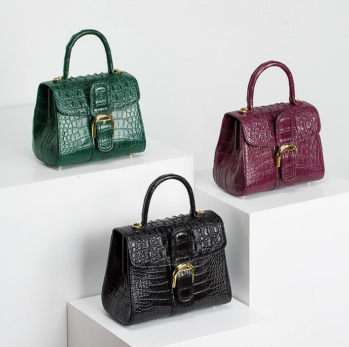 Elegant High-end Crocodile Handbag Purse Crossbody Bag-Exhibition