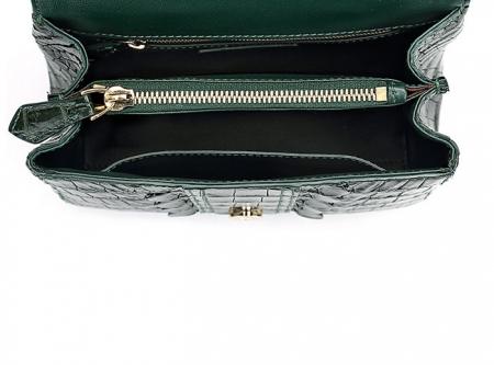 Elegant High-end Crocodile Handbag Purse Crossbody Bag-Inside