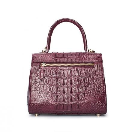 Elegant High-end Crocodile Handbag Purse Crossbody Bag-Purple-Back