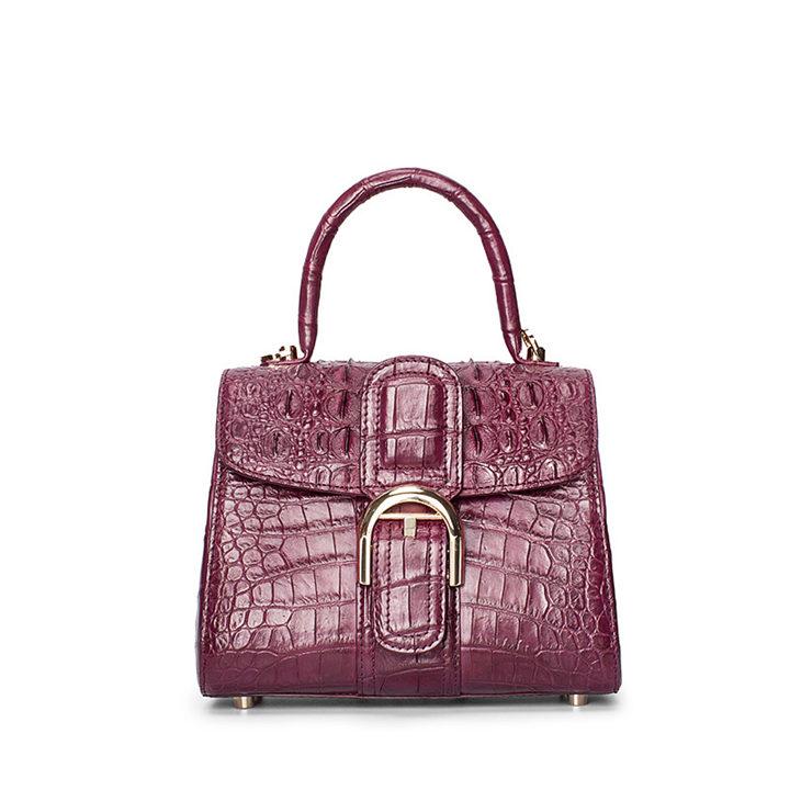 Elegant High-end Crocodile Handbag Purse Crossbody Bag-Purple