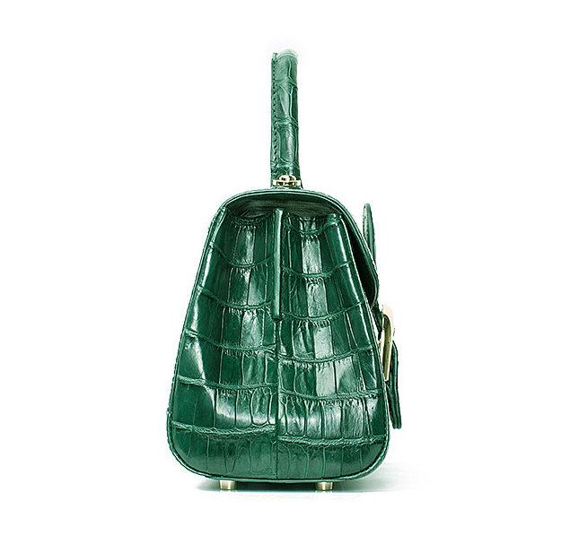 Elegant High-end Crocodile Handbag Purse Crossbody Bag-Side
