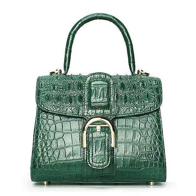 Elegant High-end Crocodile Handbag Purse Crossbody Bag