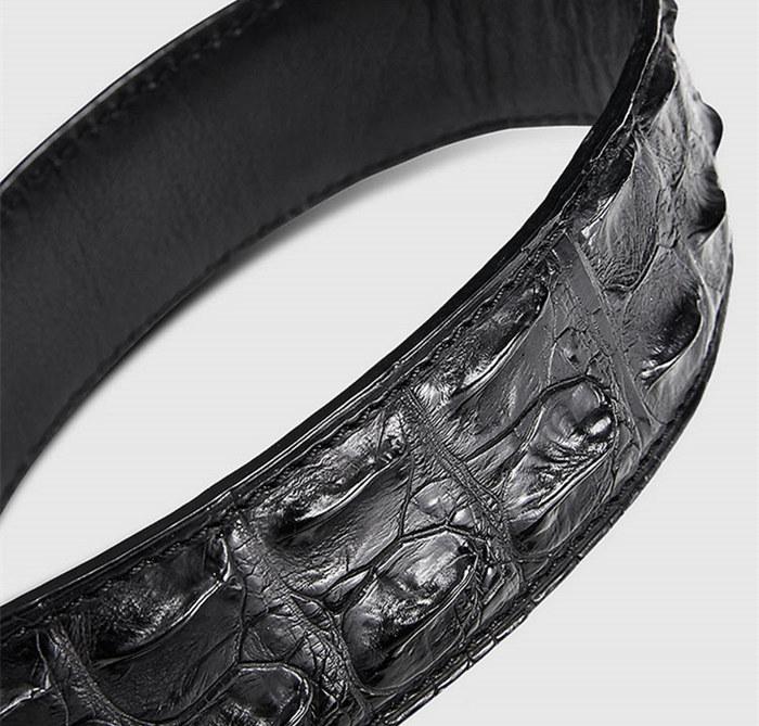 Elegant, Stylish Genuine Crocodile Belt-Black-1