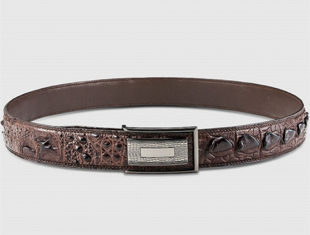 Elegant, Stylish Genuine Crocodile Belt-Brown-Lay