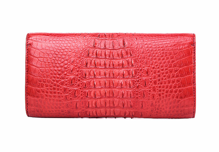 Evening Crocodile Purse, Crocodile Clutch Bag, Wrist Bag-Back