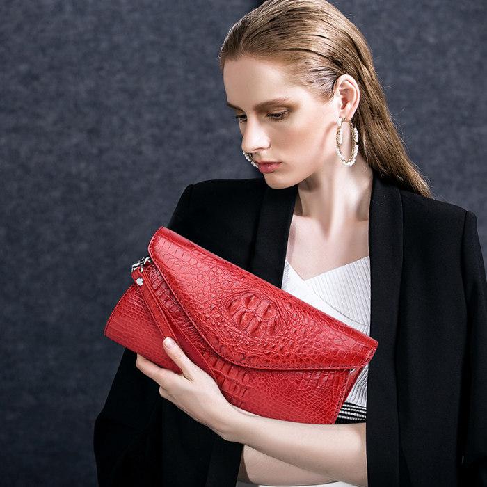 Evening Crocodile Purse, Crocodile Clutch Bag, Wrist Bag-Exhibition