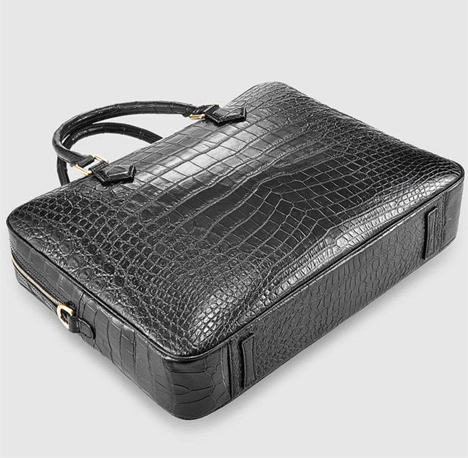 Fashion Alligator Bag, Luxury Alligator Briefcase for Men-Bottom