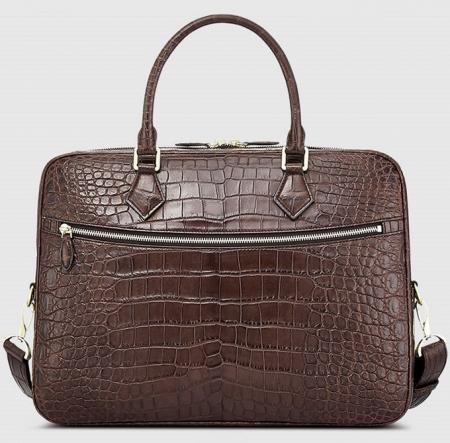 Fashion Alligator Bag, Luxury Alligator Briefcase for Men-Brown