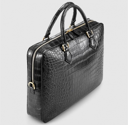 Fashion Alligator Bag, Luxury Alligator Briefcase for Men-Left