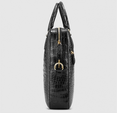 Fashion Alligator Bag, Luxury Alligator Briefcase for Men-Side